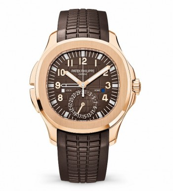 PATEK PHILIPPE - AQUANAUT TRAVEL TIME ROSE GOLD     ‌